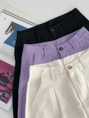 Ending Pintuck Wide Half Pants