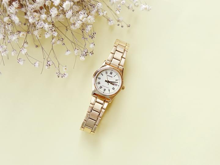 Gold Tone Metal Wristwatch