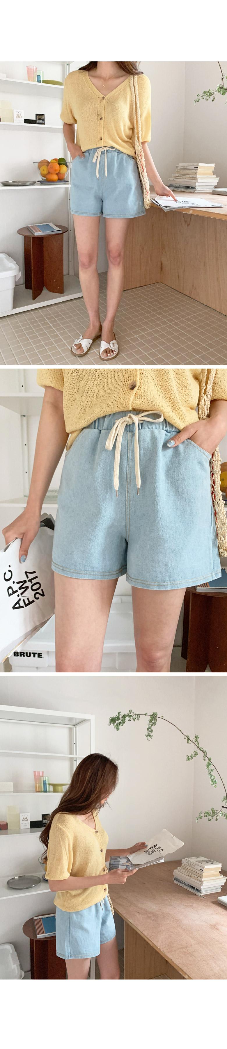 Sensable Bending Denim Short Pants