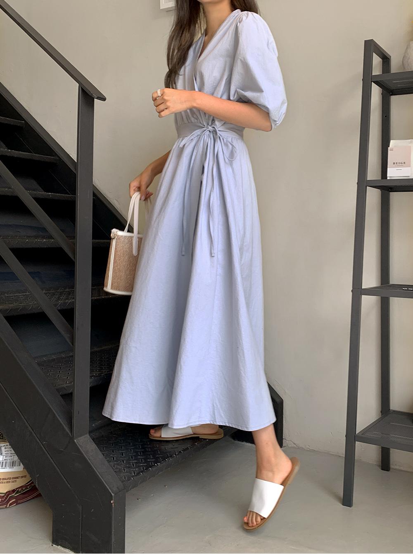 off wrap long Dress