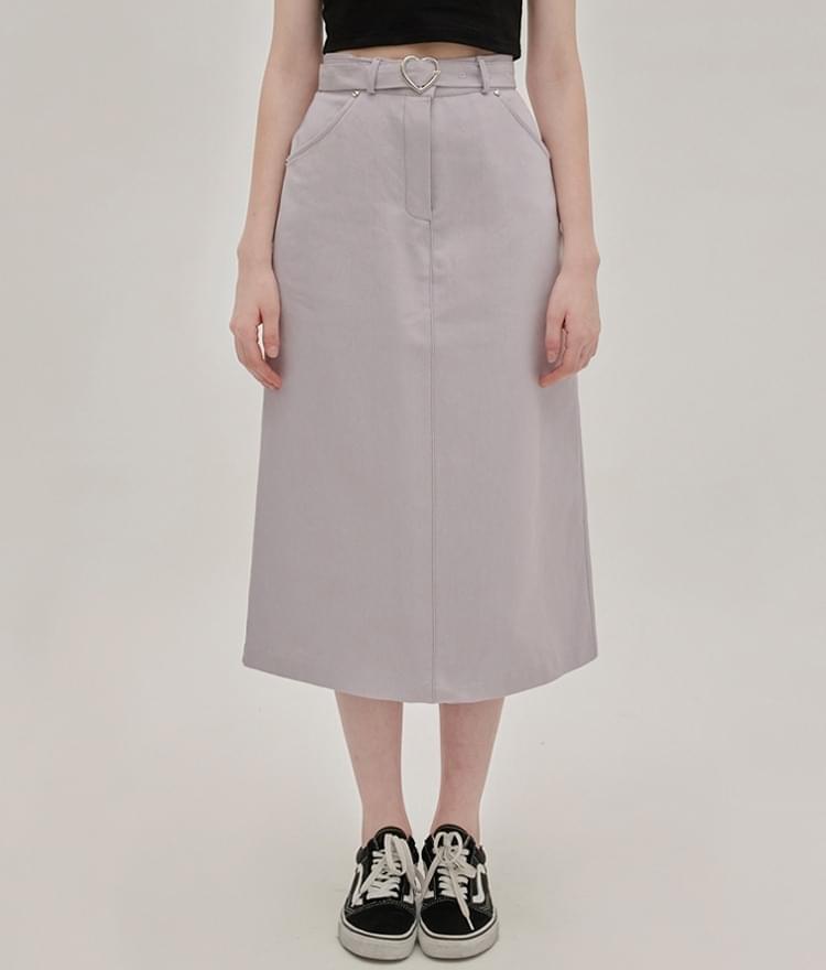 HEART CLUBLight Purple Belted Long Skirt