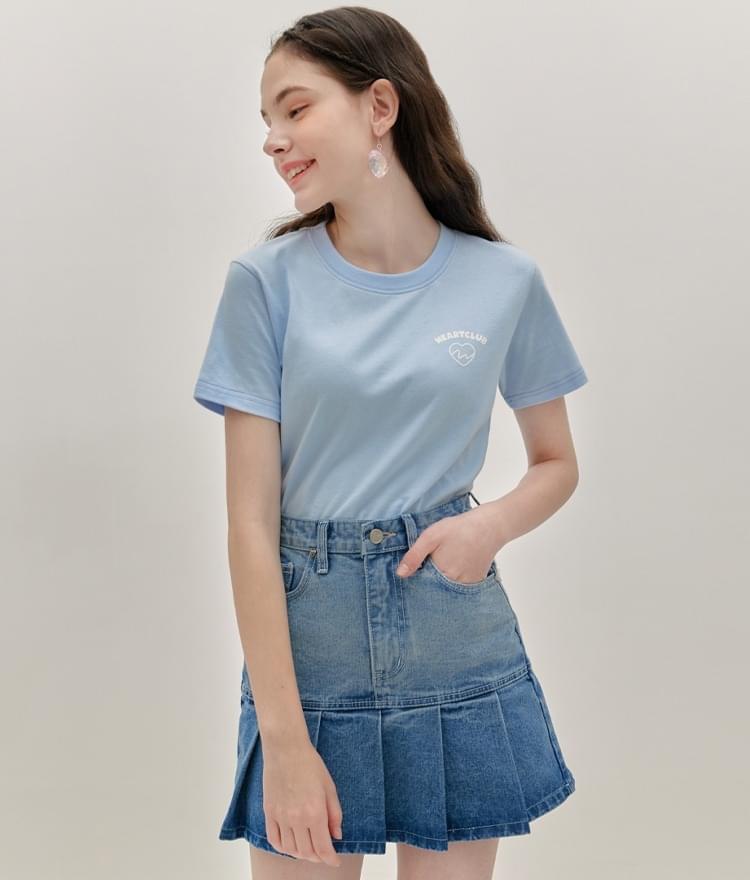HEART CLUBSky Blue Logo Detail T-Shirt