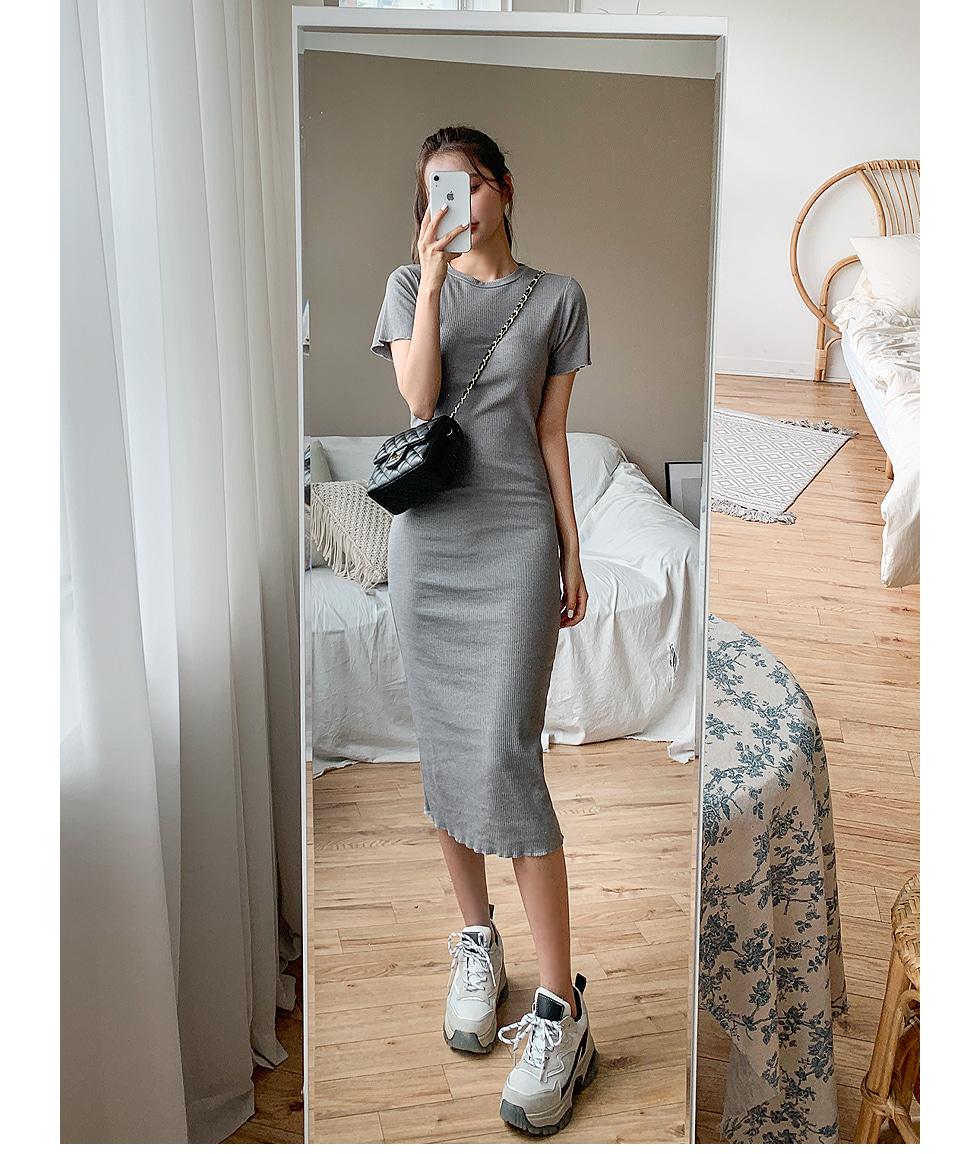 Wavy Ribbed Dress