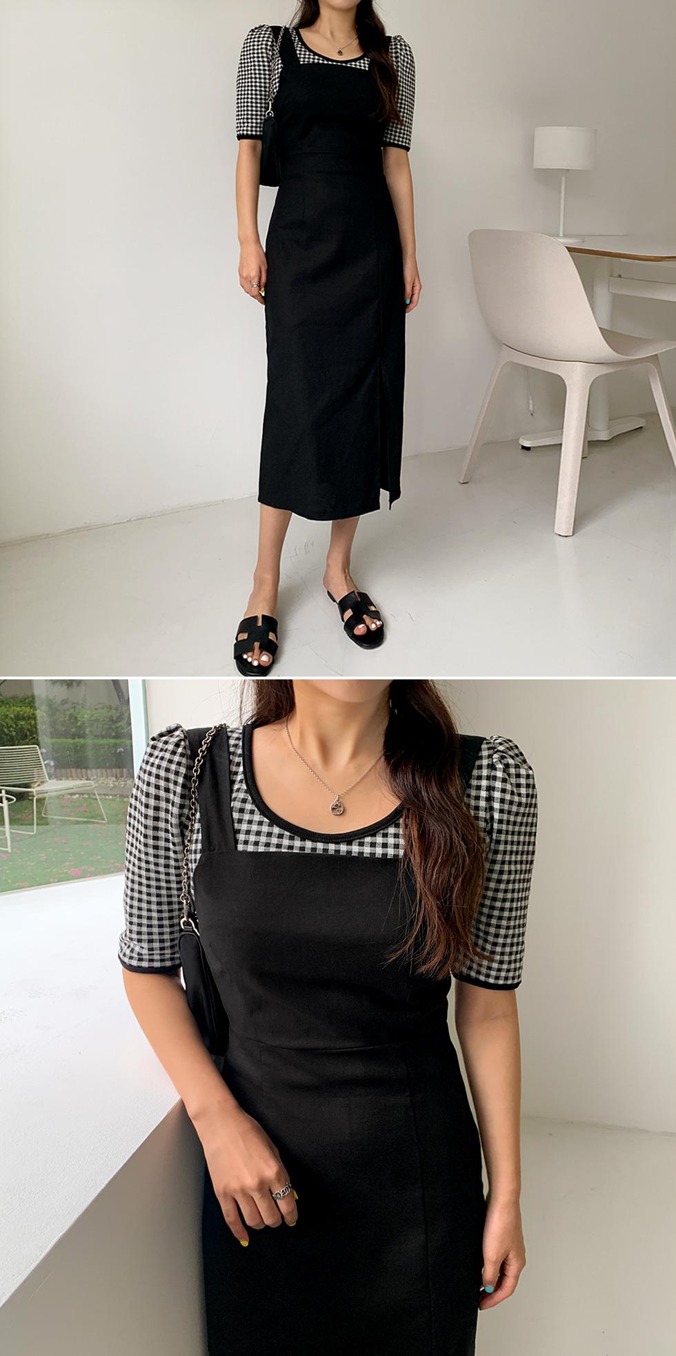 Linen slim trim Dress