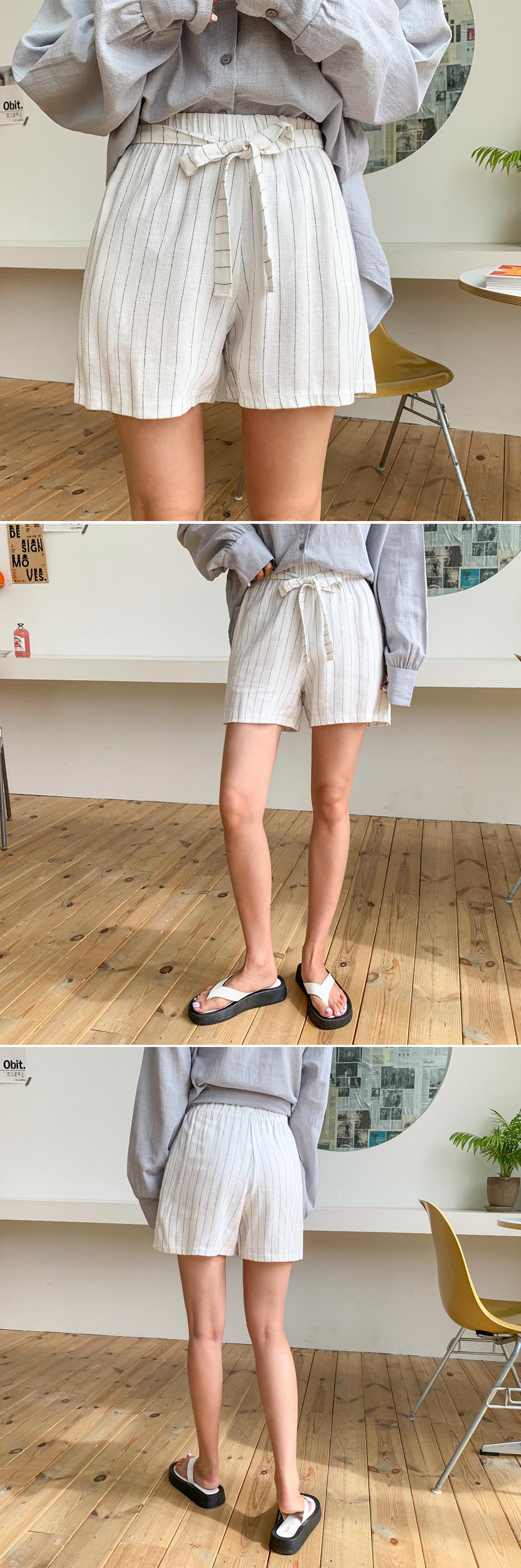 Nut stripe pants
