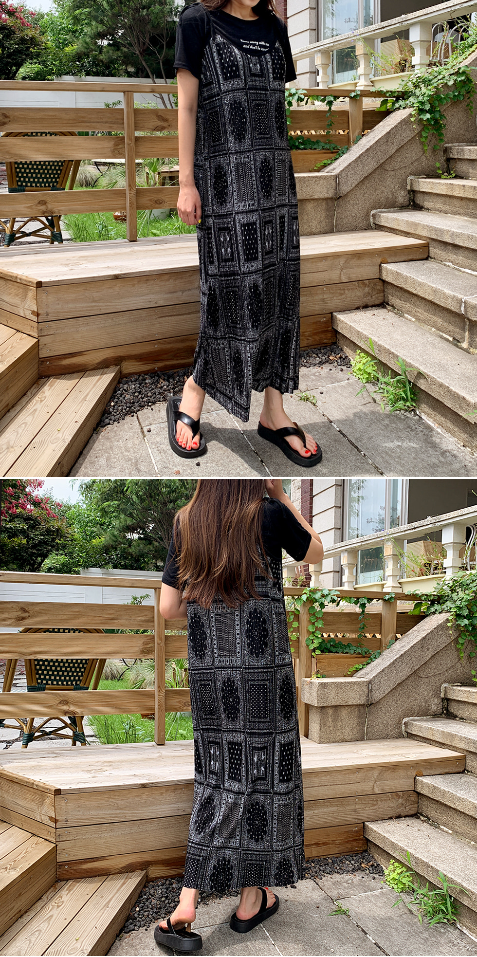 Pleated paisley Dress