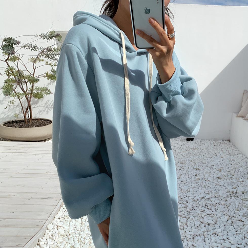 Fleece-lined hoodie Dress