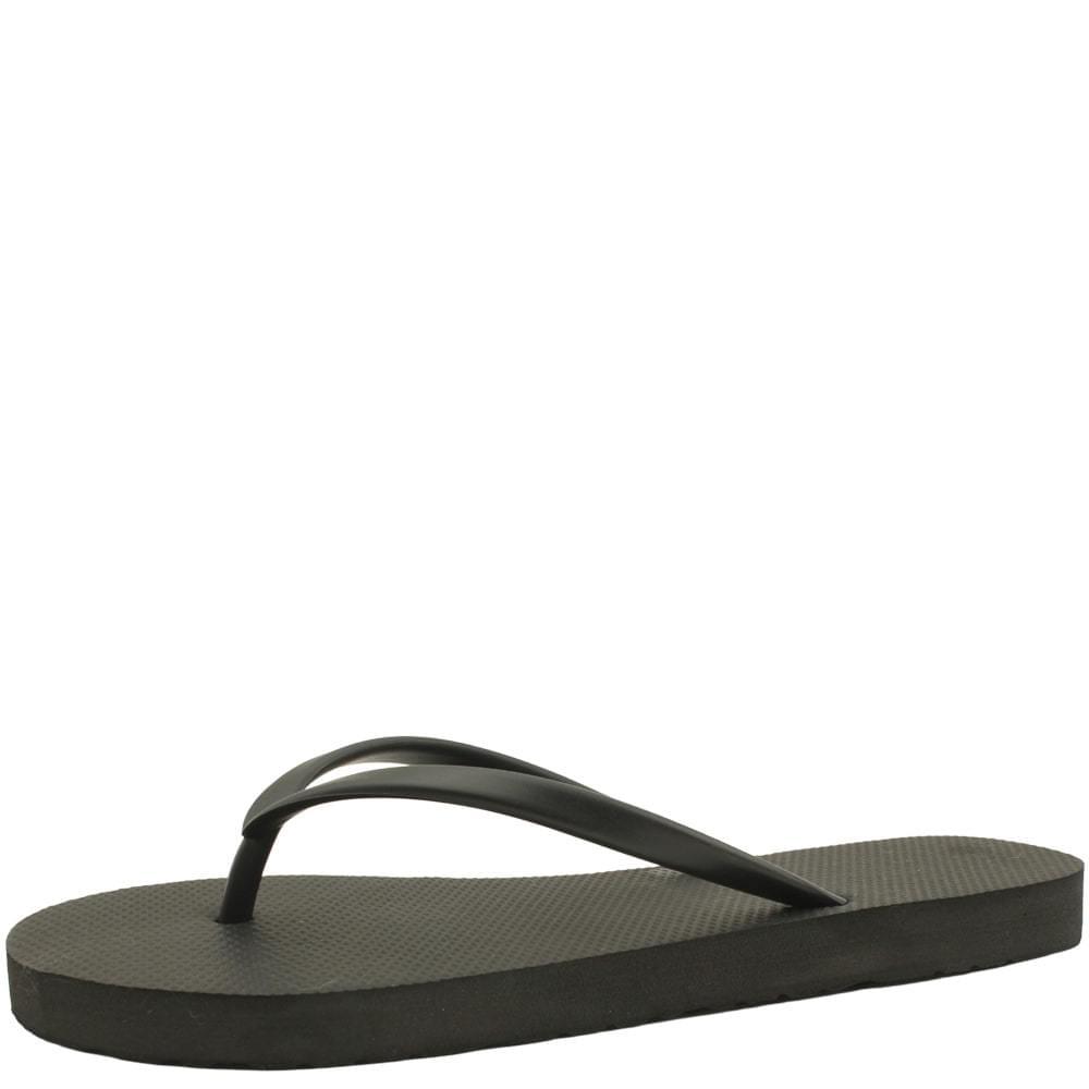 Soft basic short slippers black