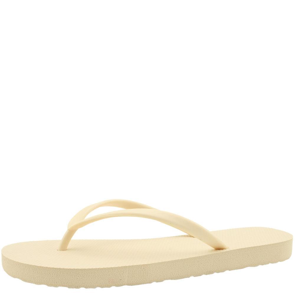 Soft basic short slippers beige