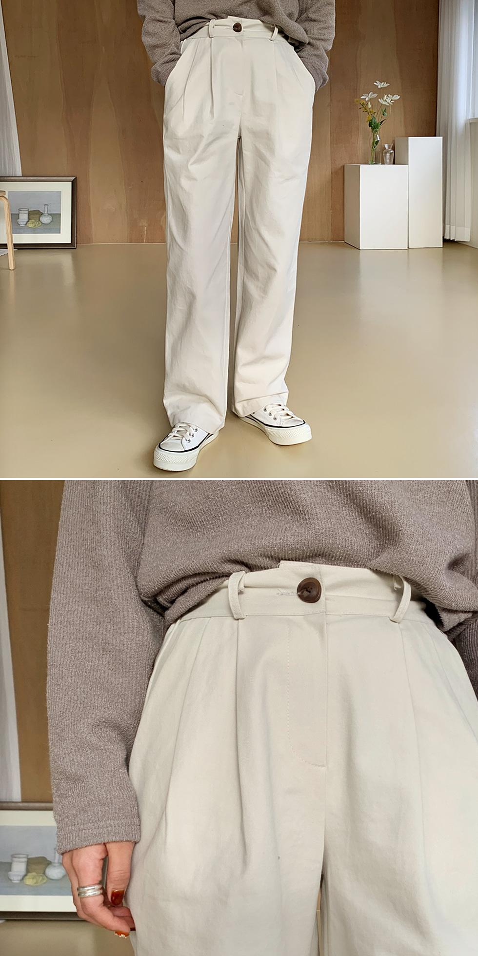 Natural Cotton Wide Pants