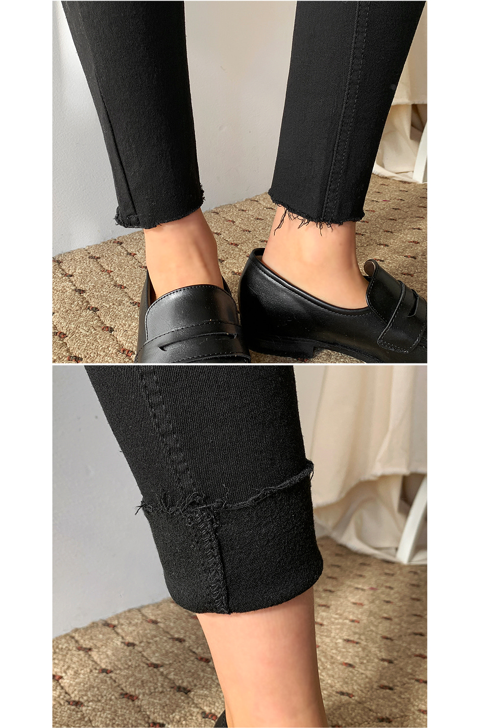 Two-button Fleece-lined trousers