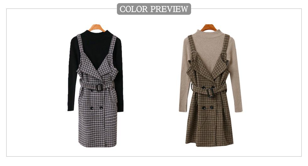 Curry Check Dress Set