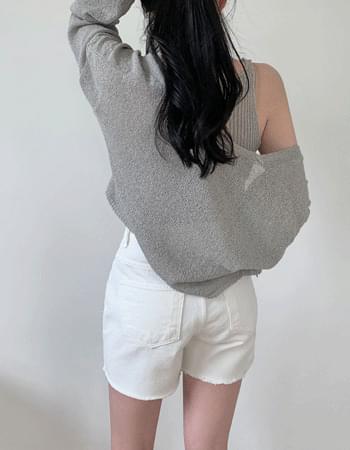 Gift Ribbed Knitwear Sleeveless Cardigan Set