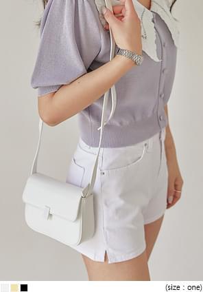 Tab Accent Leatherette Mini Bag