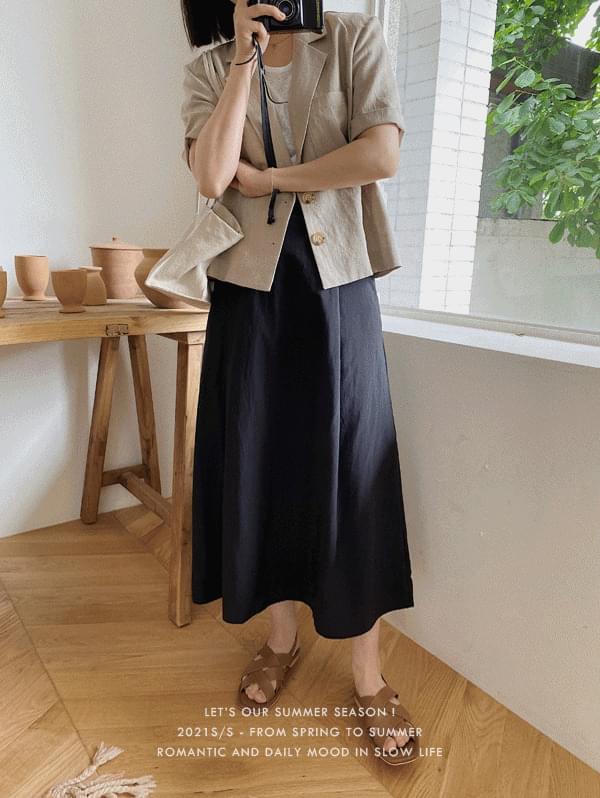 rusty flared long skirt