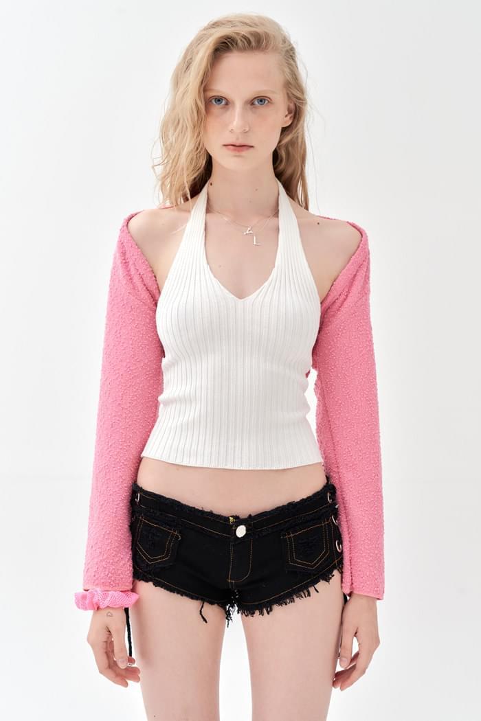 Buckle Pop Bolero Pink