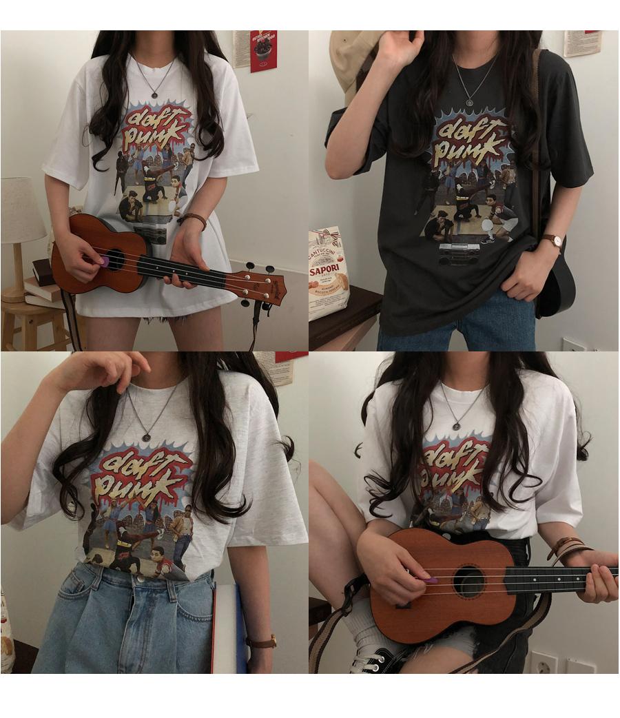 Daft Punk Vintage Short Sleeve T-shirt