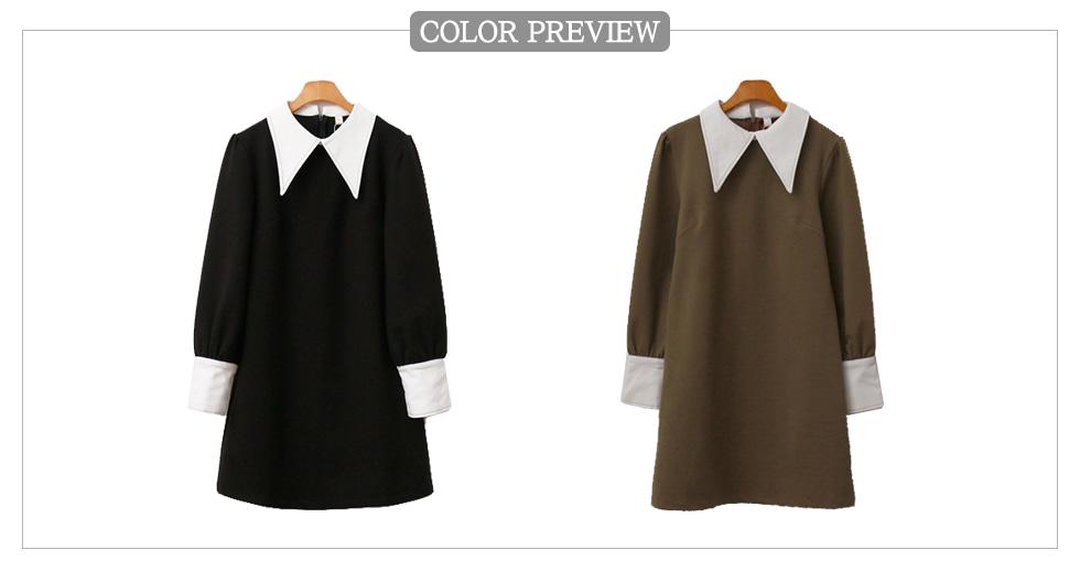 Big Color Matching Dress
