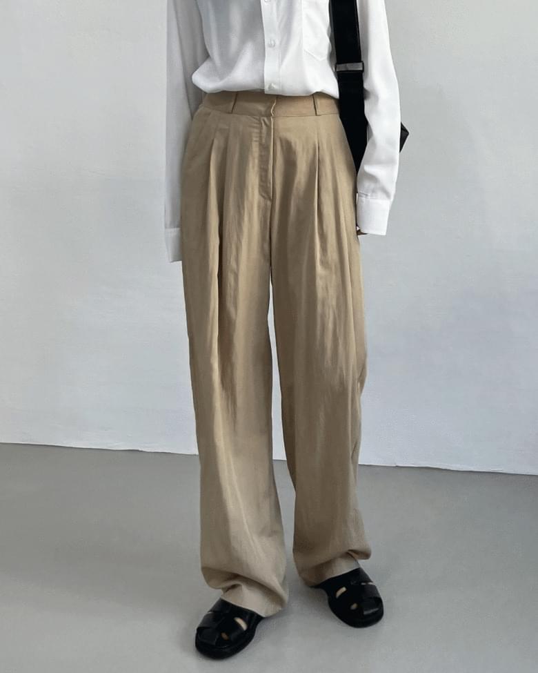 Rabble High Waist Long Wide Pants
