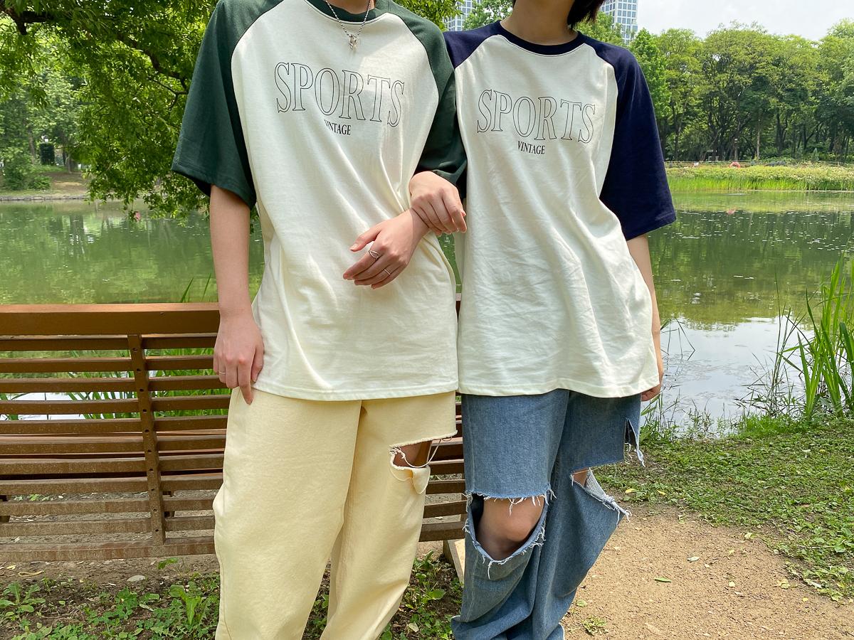 반팔 티셔츠 모델 착용 이미지-S1L30