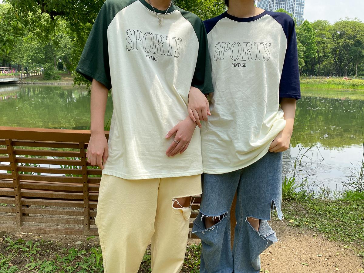 반팔 티셔츠 모델 착용 이미지-S1L29