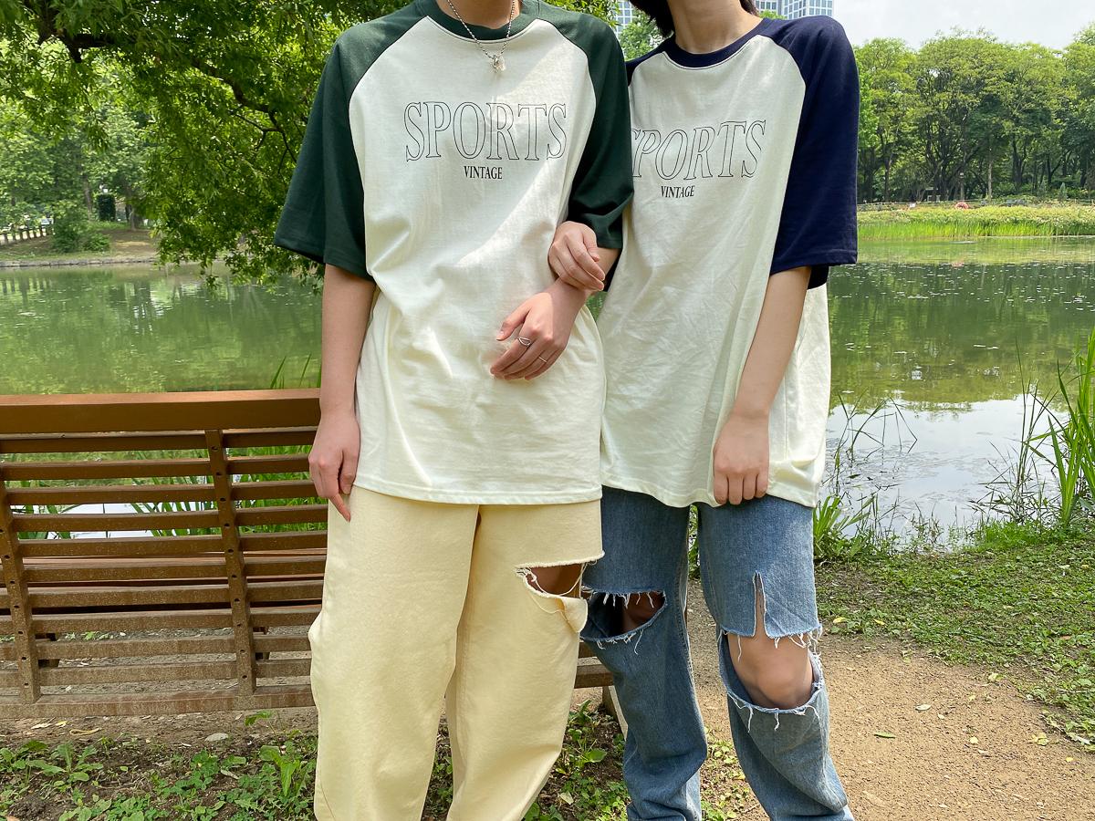 반팔 티셔츠 모델 착용 이미지-S1L31
