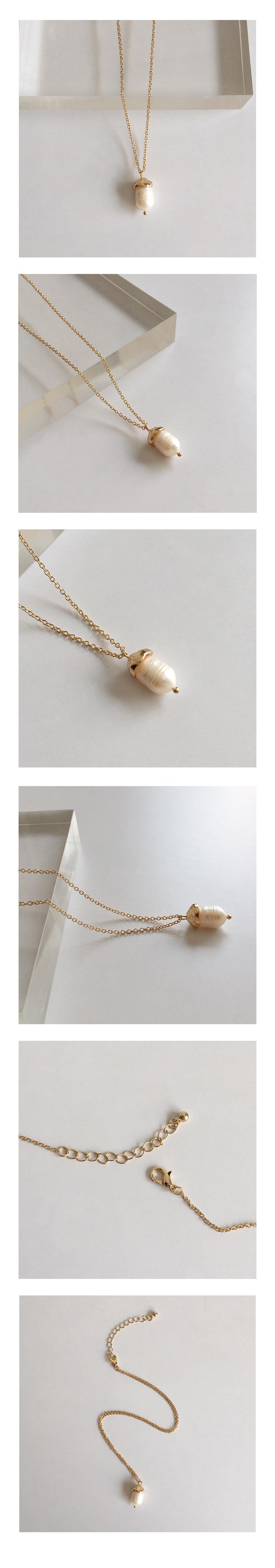 acorn pearl necklace