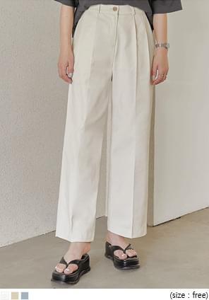 Pleated Straight Pants