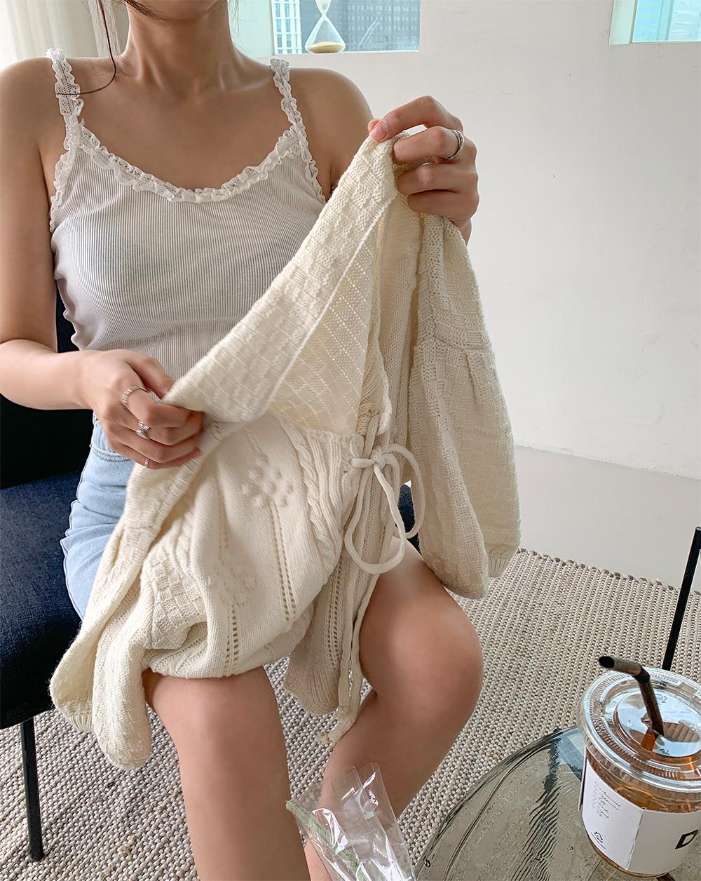 Lovely Half Cardigan Knitwear