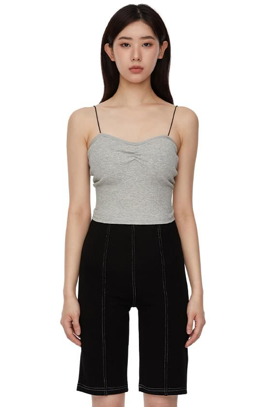back open corset Ribbed top