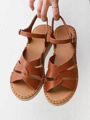 Ethnic Style Espadu Wedge Sandals 9132