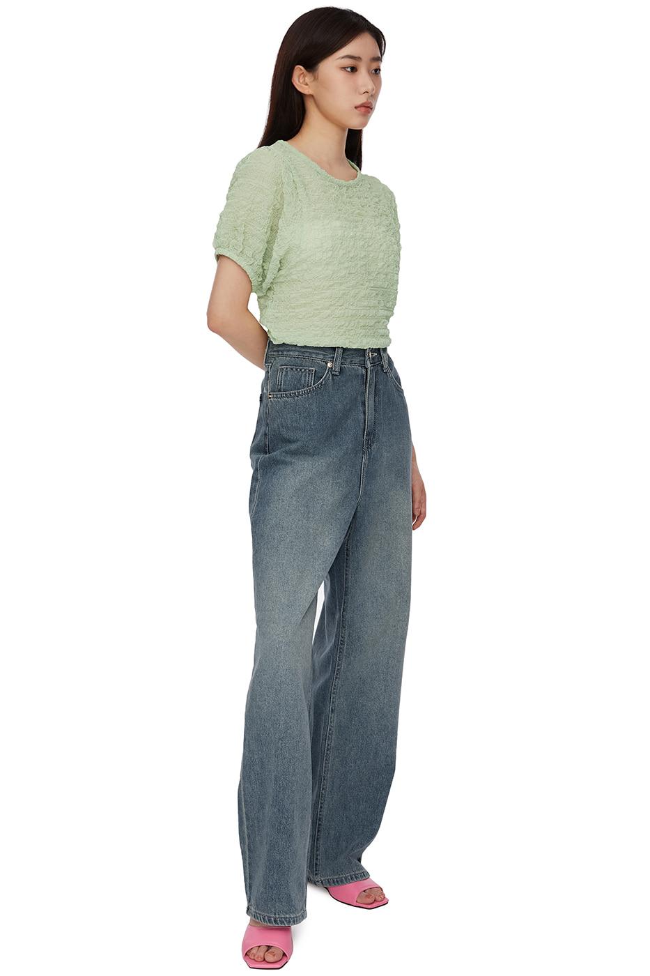 embossed rinkled blouse