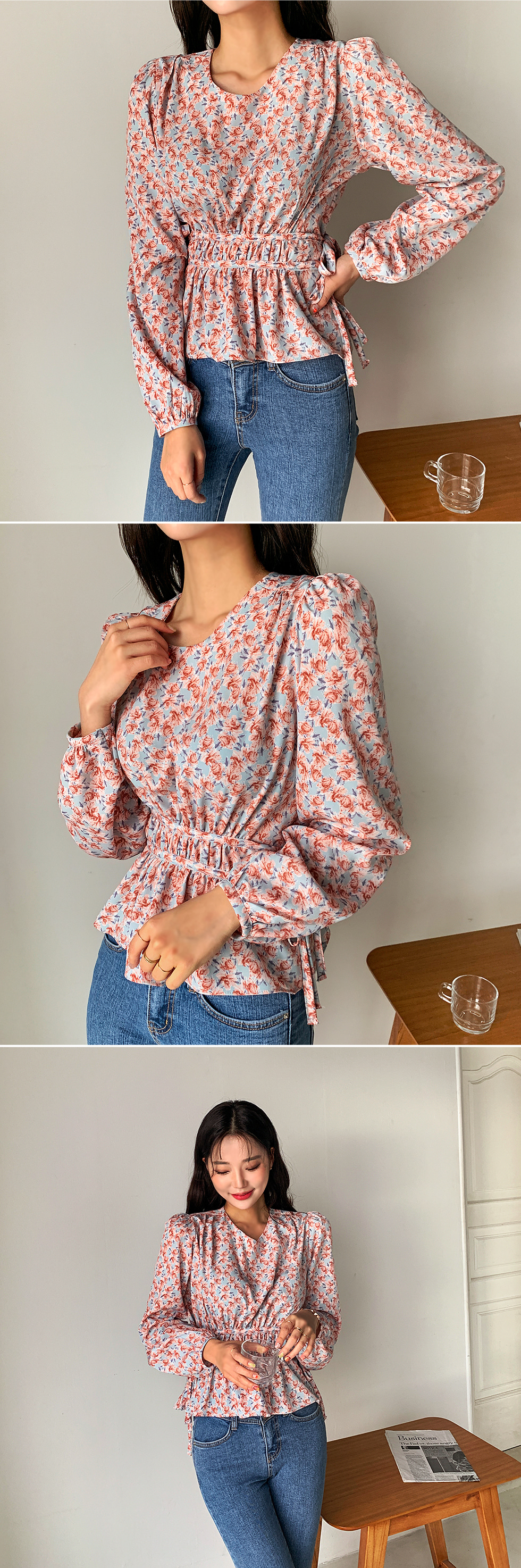 Flower dowel blouse