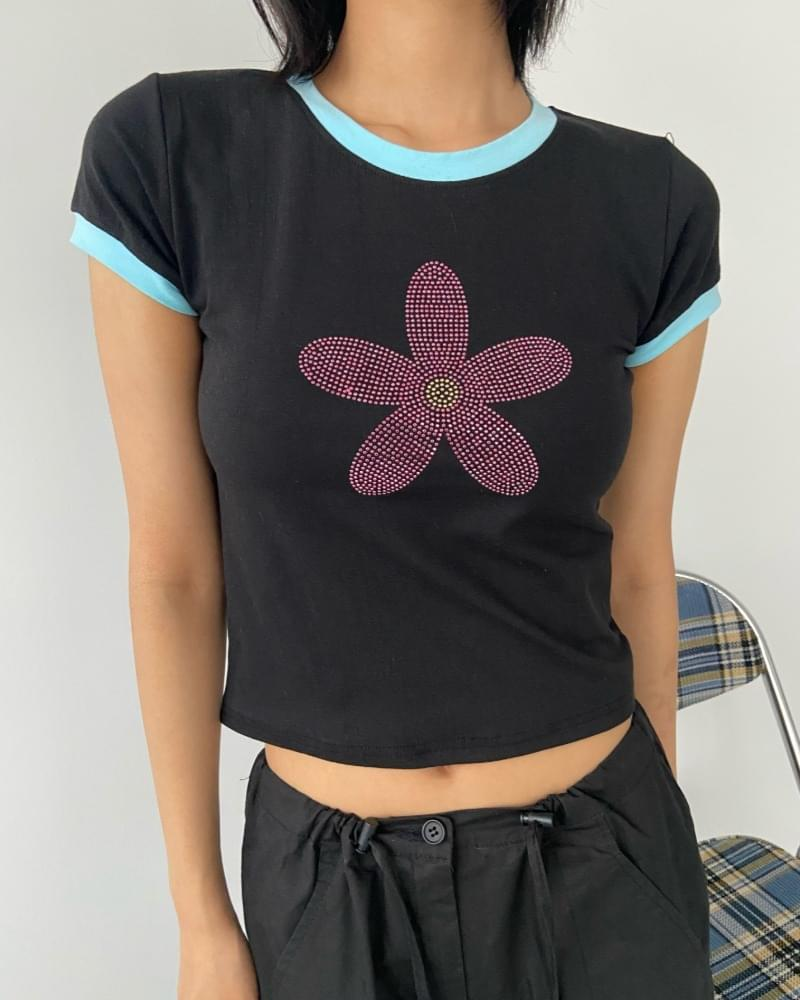 Stone Flower Color Short Sleeve Tee 短袖上衣