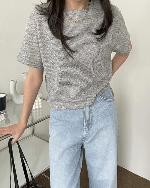 Lidy Linen Short Sleeve Knitwear T-Shirt