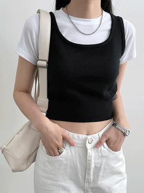 Vivid Crop Knitwear Vest