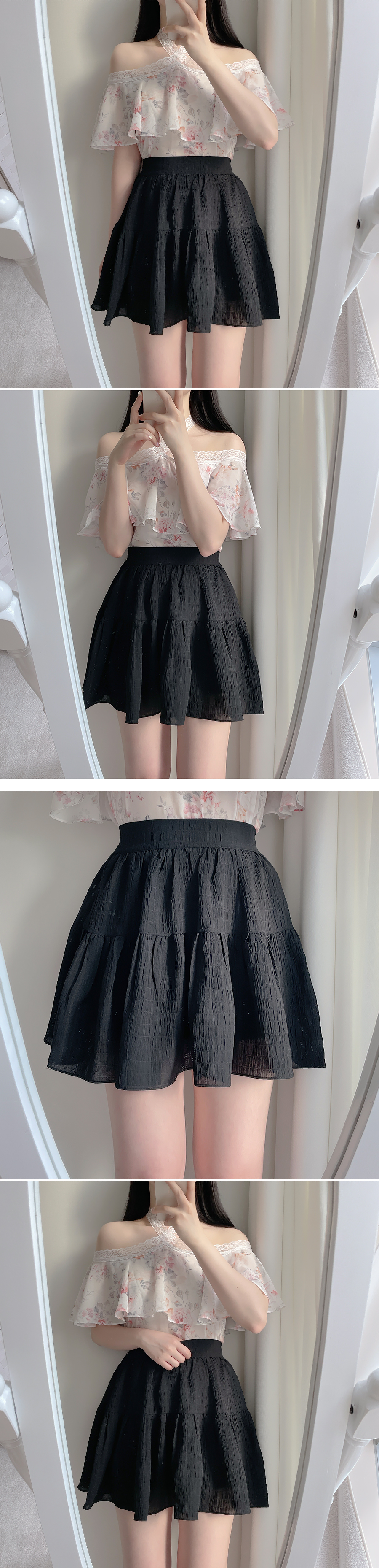 All Day Cancan Mini Skirt 3color