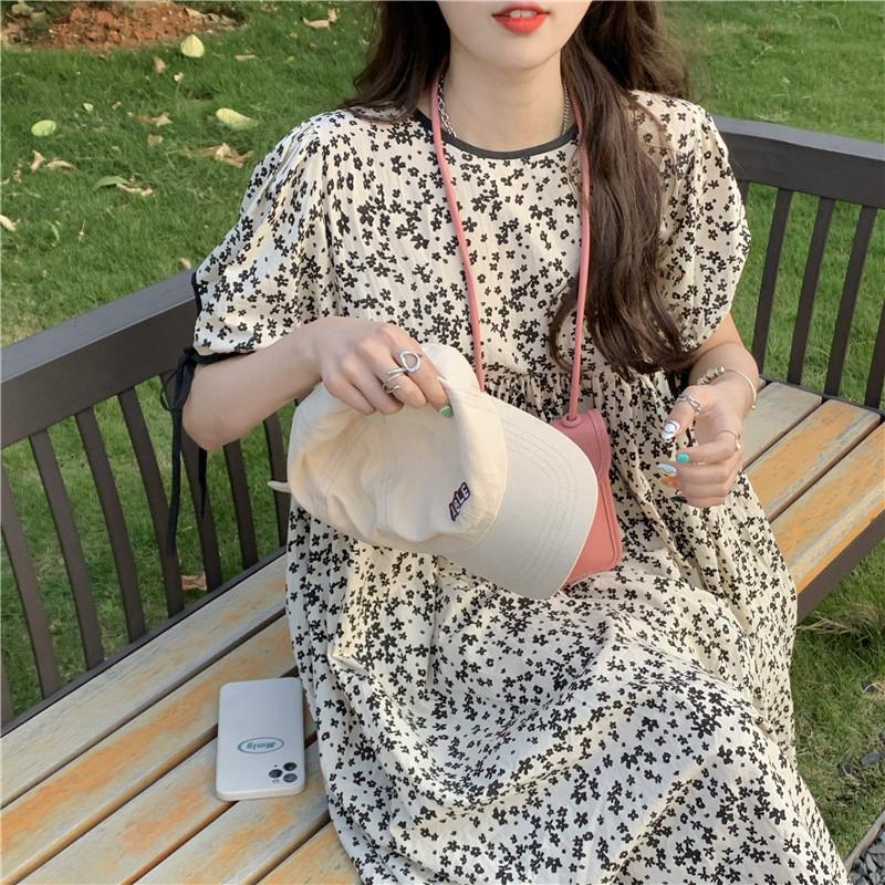 op4698 Edin Black Flower Dress