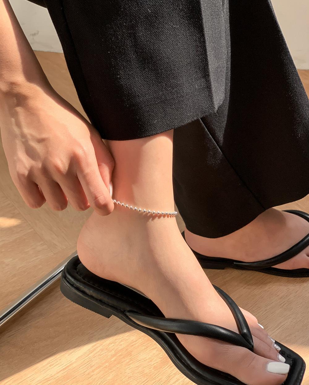 Silver 925 Basic Ball Anklet