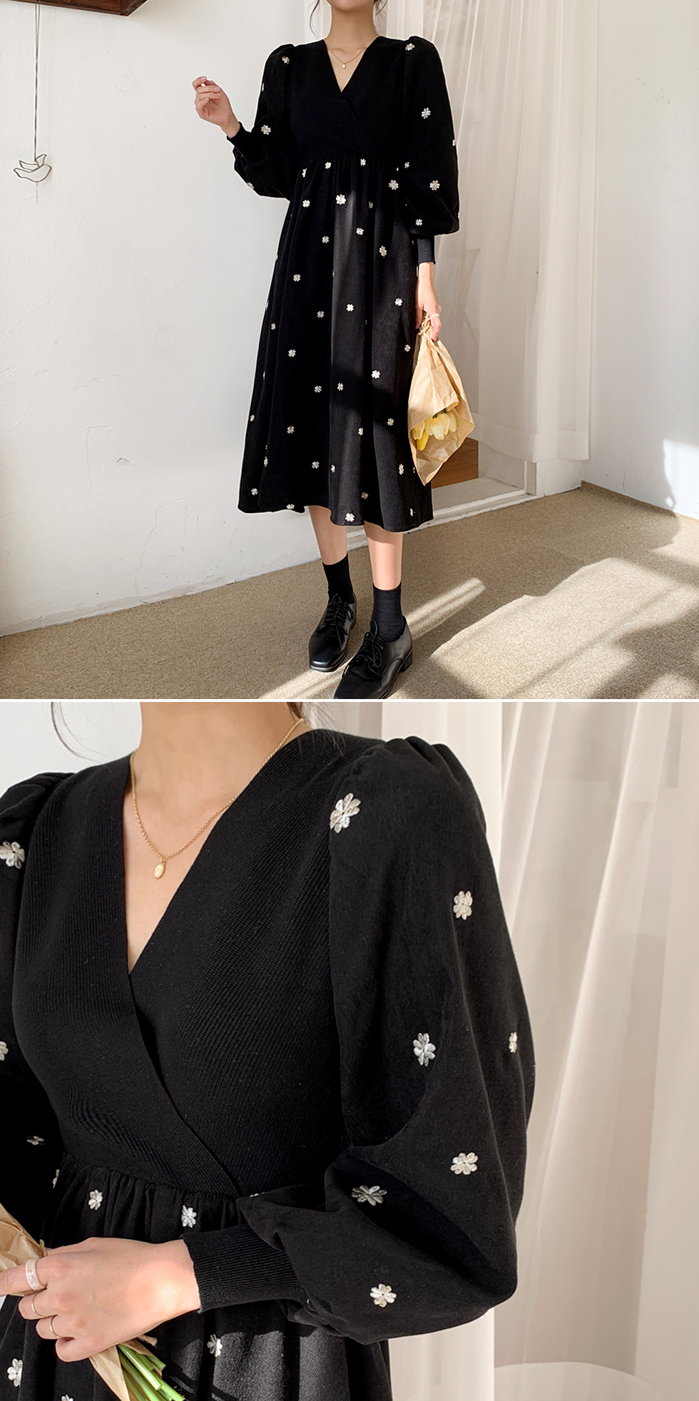 Gloming embroidery Dress