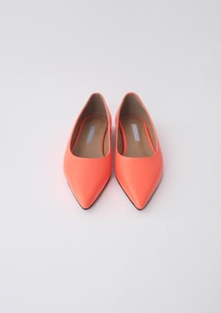 leather stileto flat shoes (5colors)