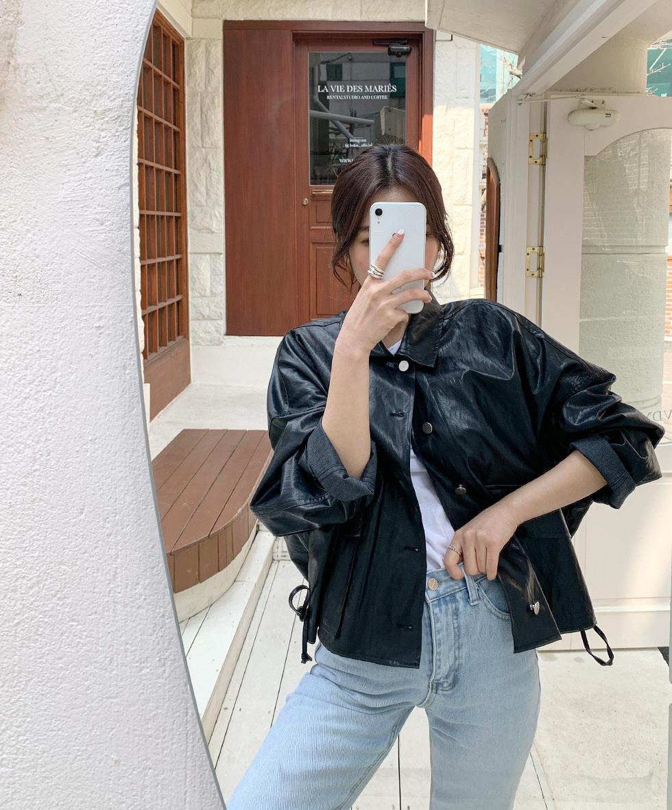 Boyfit Leather Jacket
