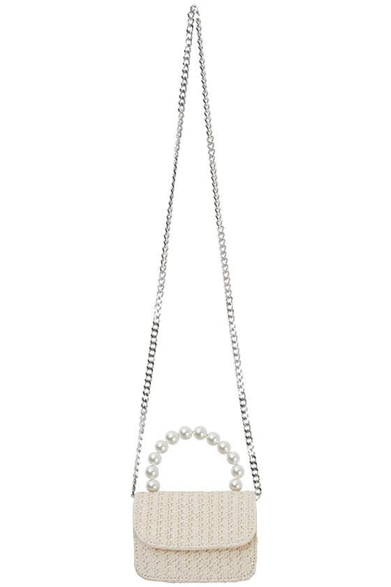 pearl handle small tote bag