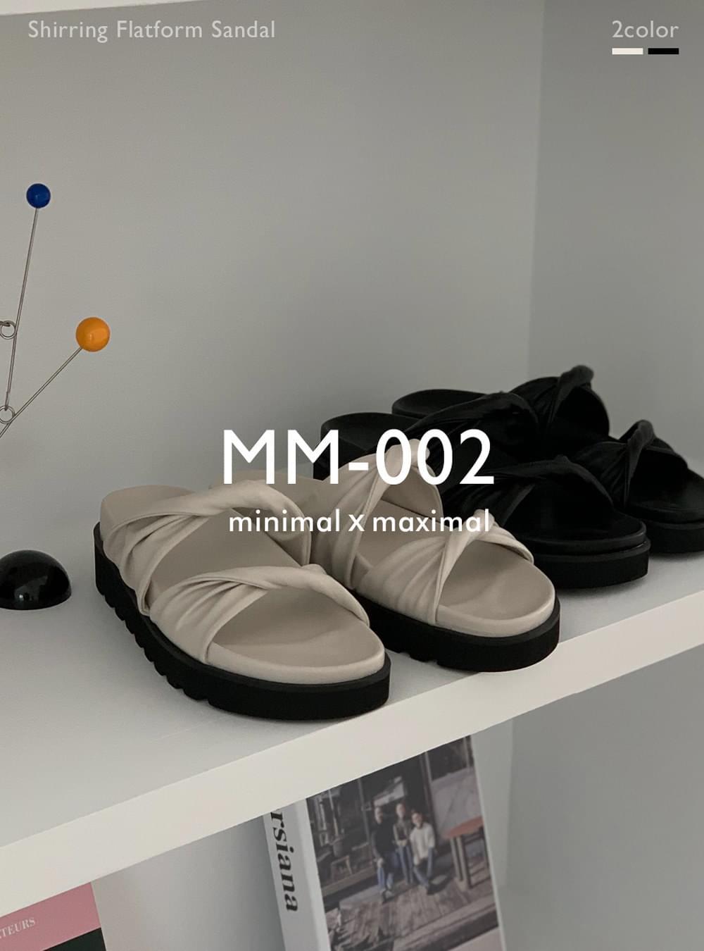 MMMM# Exclusive Order/Same Day Shipping MM-002 Shirring Platform Sandals