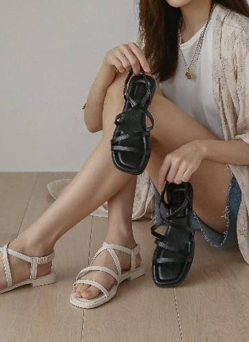 SDLTS2d133 on-time flat strappy sandals