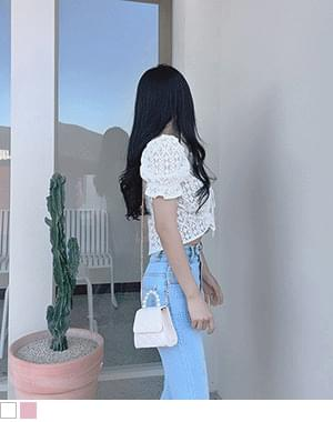 kaby off-the-shoulder lace blouse