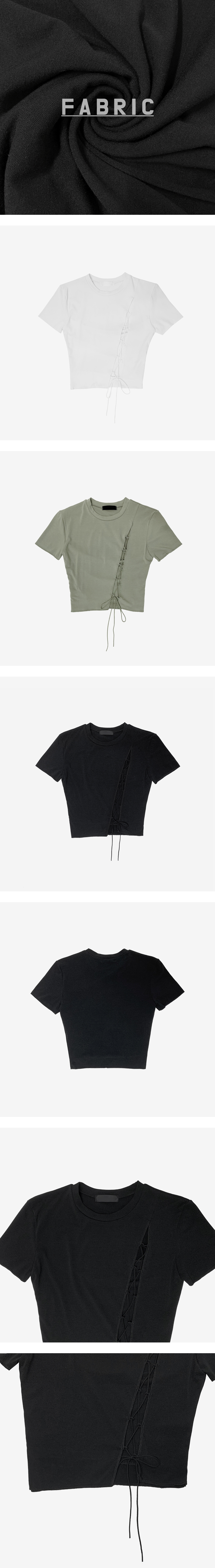 panning slit cropped T-shirt