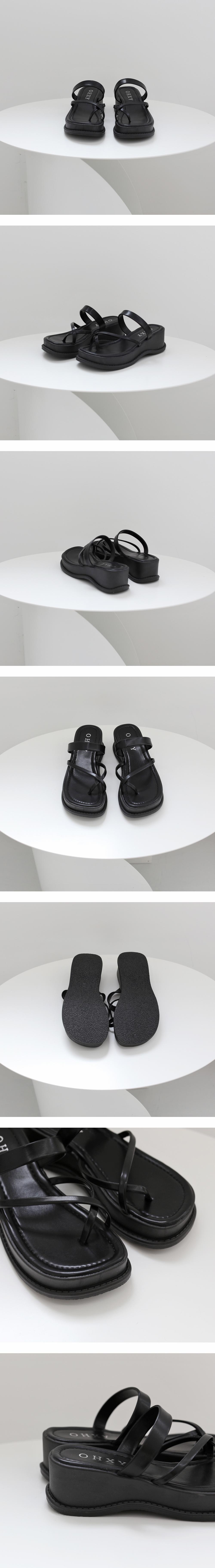 Runnin Strap Platform Slippers