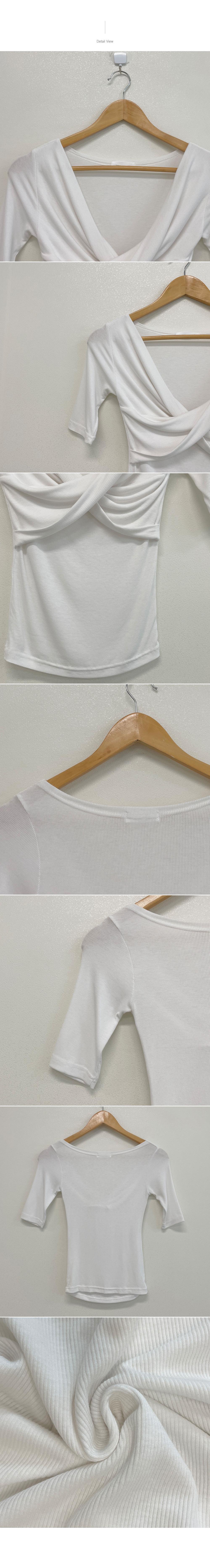 D.O., twist wrap short sleeve T-shirt