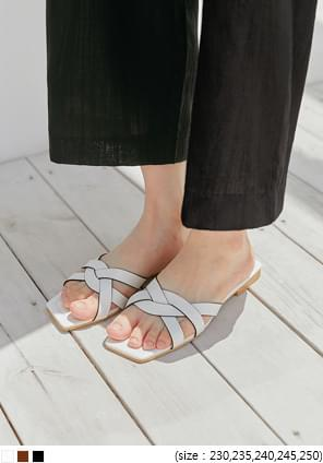Woven Strap Slide Sandals
